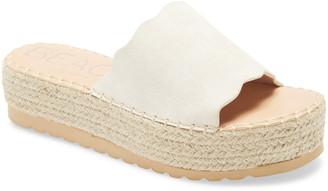 BEACH BY MATISSE Palm Platform Slide Sandal