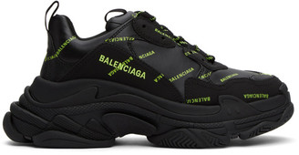 Balenciaga Black Logo Triple S Sneakers