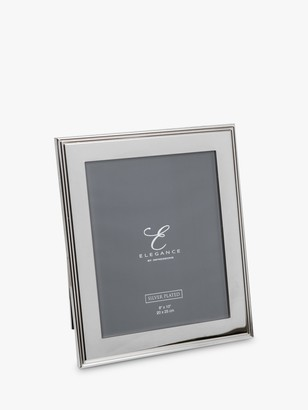 WIDDOP and Co. Elegance by IMPRESSIONS Ribbed Photo Frame, Silver Plated