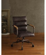 Strickland Genuine Leather Task Chair 17 Stories Upholstery Color: Retro Brown