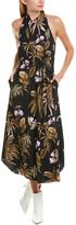 Vince Tropical Garden Midi Dress