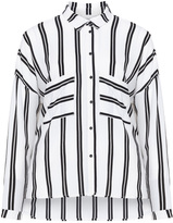 Junarose Plus Size Striped crepe shirt