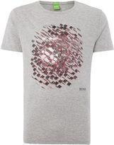 Hugo Boss Regular Fit Fish Eye Text Logo T Shirt