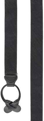 Tie Bar Festival Textured Solid Black Suspender