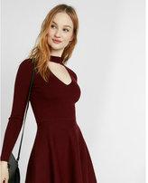 Express sweater choker dress