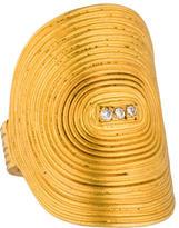 Yossi Harari 24K Diamond Vinyl Cocktail Ring