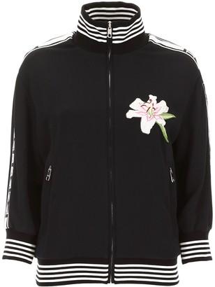 Dolce & Gabbana Logo Embroidered Zipped Jacket