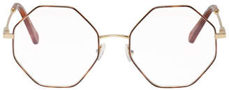 Chloé Gold and Tortoiseshell Palma Glasses