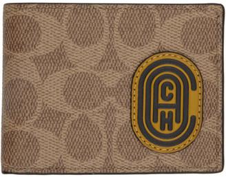 Coach 1941 Brown Patch Slim Billfold Wallet