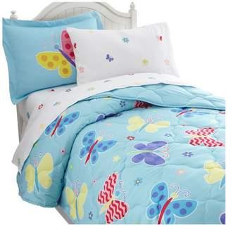 Olive Kids Wildkin Butterfly Garden 5-Piece Bed in a Bag, Twin