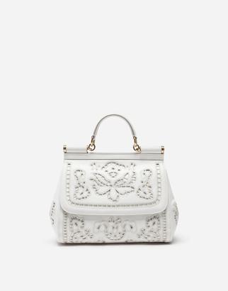 Dolce & Gabbana Medium Sicily Bag In Intaglio Nappa Leather