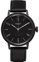 Tsovet Svt-cn38 38mm Stainless Steel And Leather Watch