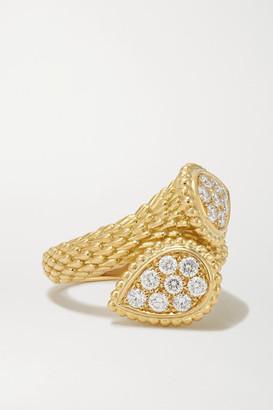 Boucheron Serpent Boheme Toi Et Moi 18-karat Gold Diamond Ring - 52
