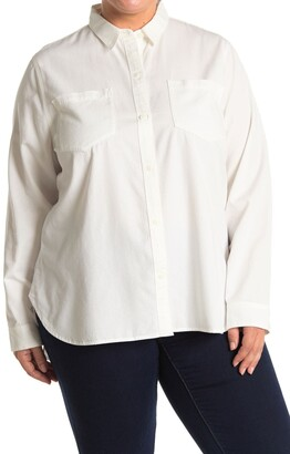 Madewell Ex-Boyfriend Long Sleeve Button Front Shirt