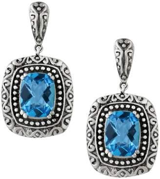 Effy Ocean Bleu Topaz and Sterling Silver Drop Earrings