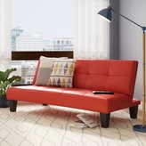 Chavez Convertible Sleeper Sofa Ebern Designs Upholstery: Red / Black