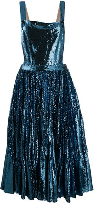 Marco De Vincenzo Sequin Pinafore Dress