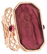 Tagliamonte 18K Tourmaline & Venetian Glass Intaglio Ring