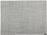 Chilewich Basketweave Rectangle Placemat - White/Silver