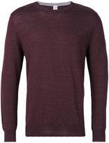 Eleventy round neck plain sweatshirt - men - Silk/Merino - M