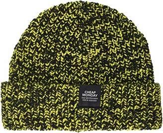 Cheap Monday Skull Beanie, Multicoloured Black/Bright Yellow