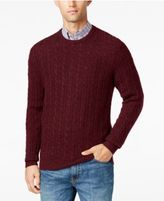Club Room Men's Big and Tall Cable-Knit Cashmere Sweater, Only at Macy's