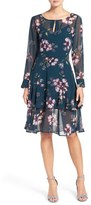 Cupcakes And Cashmere Women's 'Makana' Floral Print Fit & Flare Dress