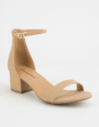 City Classified Weekend Black Womens Heeled Sandals