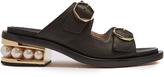 Nicholas Kirkwood Casati pearl-heeled leather sandals