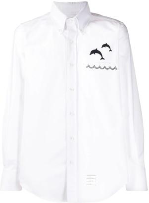 Thom Browne White Dolphin Button-down Shirt