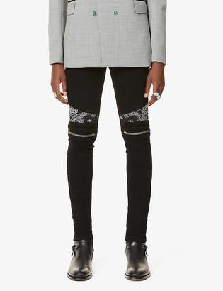 Amiri Bandana-print skinny jeans
