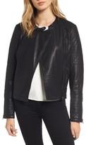 Cupcakes And Cashmere Women's Ezmerelda Faux Leather Moto Jacket