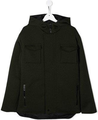 Paolo Pecora Kids TEEN hooded concealed-zip coat