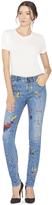 Alice + Olivia Joana Splatter Paint Skinny Jean