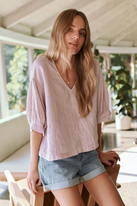 Velvet by Graham & Spencer Tayler Linen Blouse