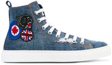 DSQUARED2 denim patch Basquettes high-top sneakers - men - Cotton/rubber - 41
