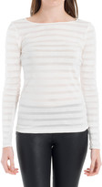 Max Studio Striped Long Sleeved Tee