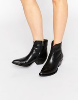 Frye Shane Tip Short Western Leather Heeled Ankle Boots