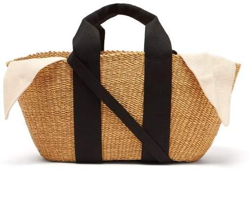 Muun George Woven Straw Tote Bag - Womens - Cream