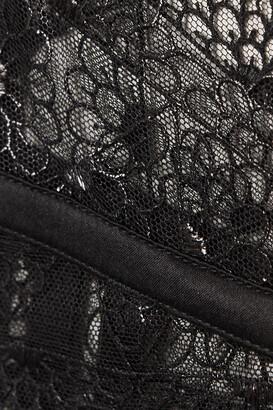 Coco de Mer Evita Scalloped Lace And Stretch-satin Suspender Belt - Black
