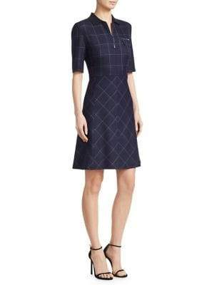 Piazza Sempione Macro Check Wool-Blend Dress