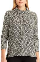 Chaps Petite Marled Funnel Neck Sweater