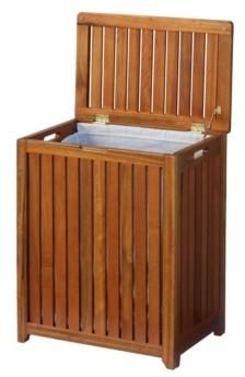 Oceanstar Solid Wood Spa Hamper