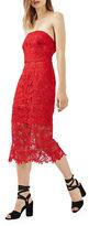 Topshop Bandeau Lace Midi Dress