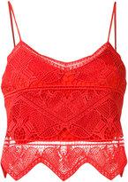 Jonathan Simkhai panel applique bustier top - women - Silk/Polyester/Spandex/Elastane - 0