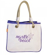 The Well Appointed House Natural Canvas Rope Tote with Violet Accents-Can Be Personalized