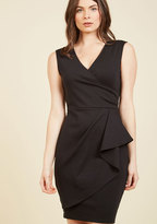 ModCloth Public Speaking Highly of You Sheath Dress in Black in 2X