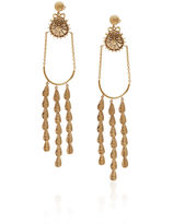 Sophia Kokosalaki Gold Delta Lyra Drop Earrings