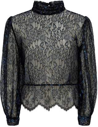 Sandro Sheer Lace Blouse