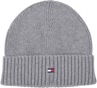 Tommy Hilfiger Ribbed Flag Beanie Hat